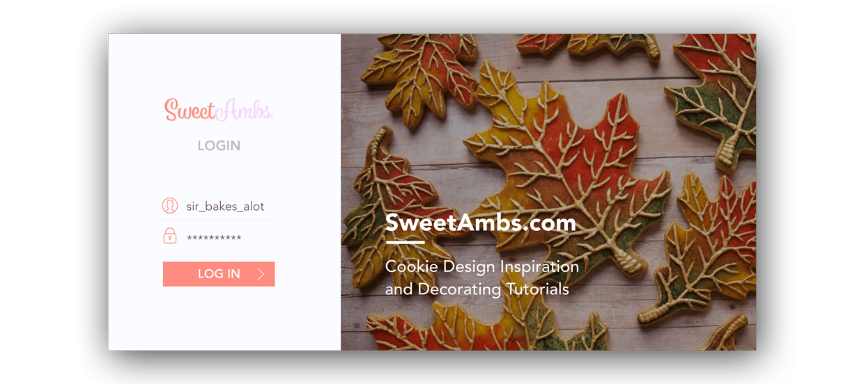 SweetAmbs Login Page